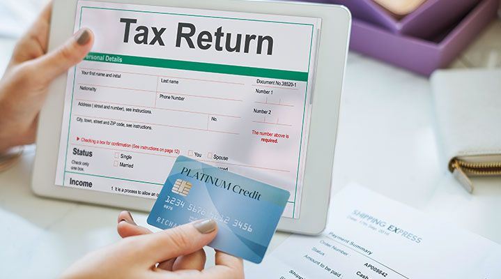how to pay tax with credit card